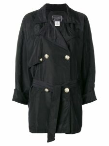 Versace Pre-Owned 2000's double-breasted loose-fit coat - Black