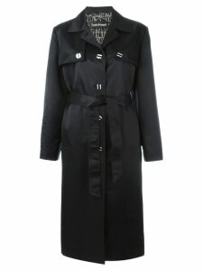 Louis Feraud Pre-Owned long trench coat - Black