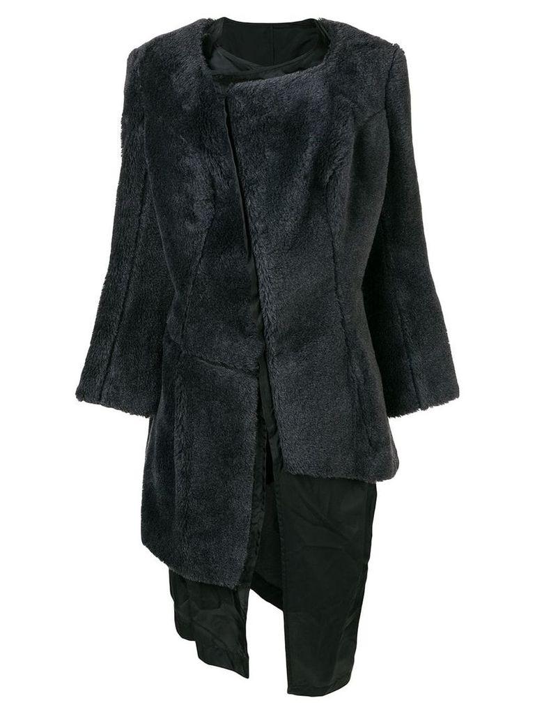 Comme Des Garçons Vintage 1997 faux fur coat - Grey