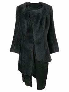 Comme Des Garçons Pre-Owned 1997 faux fur coat - Grey