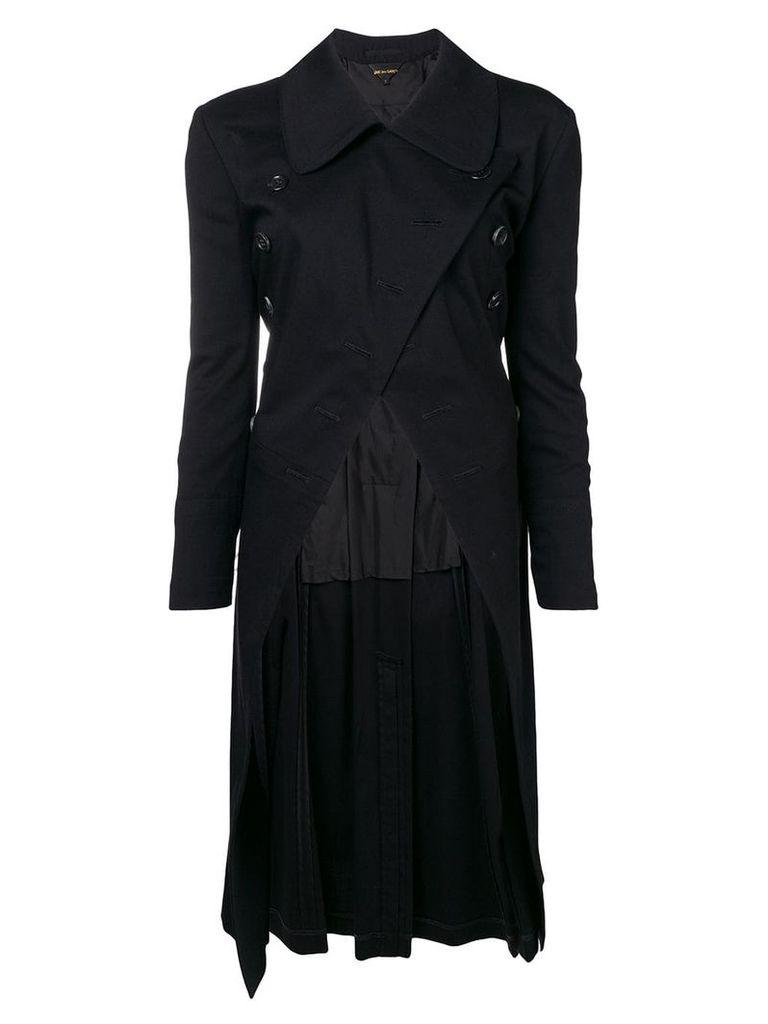 Comme Des Garçons Vintage double breasted asymmetric coat - Black