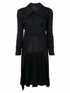 COMME DES GARÇONS PRE-OWNED double breasted asymmetric coat - Black