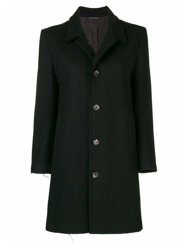 Yohji Yamamoto Vintage Raw Edges coat - Blue