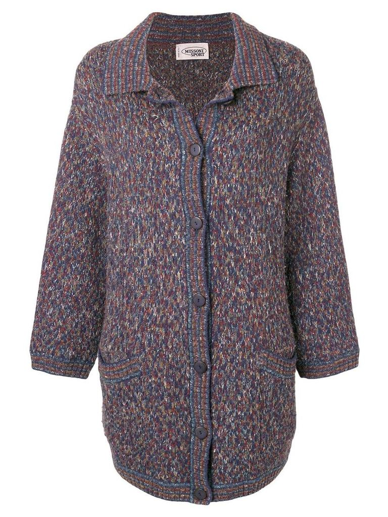 Missoni Pre-Owned 1990's button cardi-coat - Blue