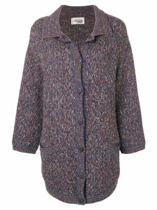 Missoni Pre-Owned 1990's button cardi-coat - Blue
