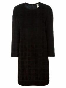 Comme Des Garçons Pre-Owned checked shift dress - Black