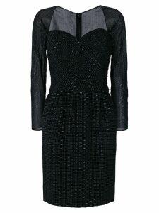Christian Dior Pre-Owned polka dots gathered dress - Black
