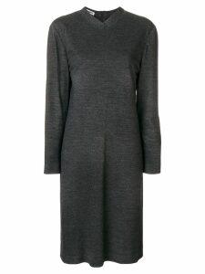 Jil Sander Pre-Owned 1990's longsleeved knitted dress - Grey