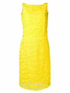 Versace Pre-Owned 1990's textured fitted dress - Yellow