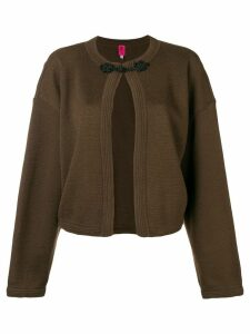 Emanuel Ungaro Pre-Owned toggle fastening jacket - Brown