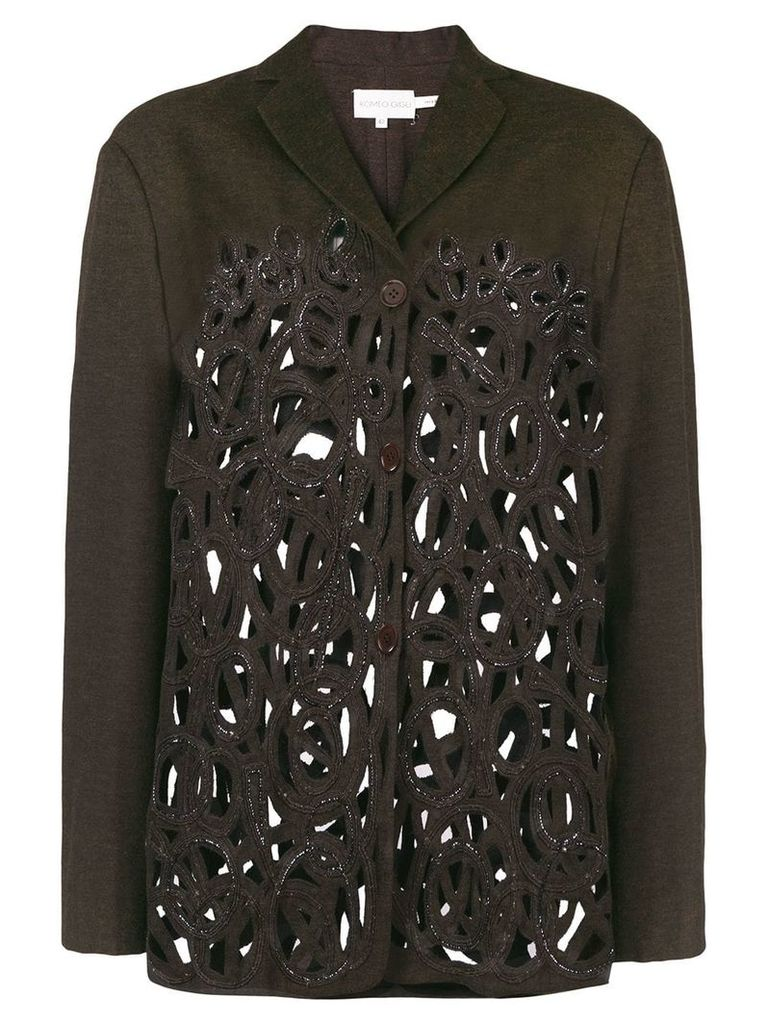 Romeo Gigli Vintage cutout fitted jacket - Brown