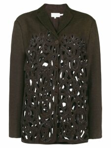 Romeo Gigli Pre-Owned cutout fitted jacket - Brown