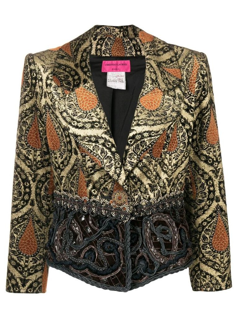 Christian Lacroix Vintage jacquard fitted jacket - Brown