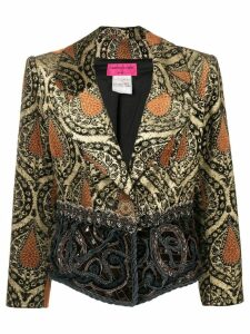 Christian Lacroix Pre-Owned jacquard fitted jacket - Brown