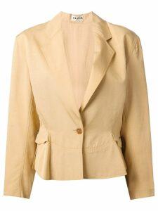 Alaïa Pre-Owned drawstring blazer - Neutrals