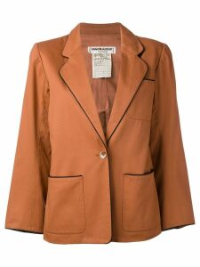 Yves Saint Laurent Pre-Owned contrast trim blazer jacket - Brown