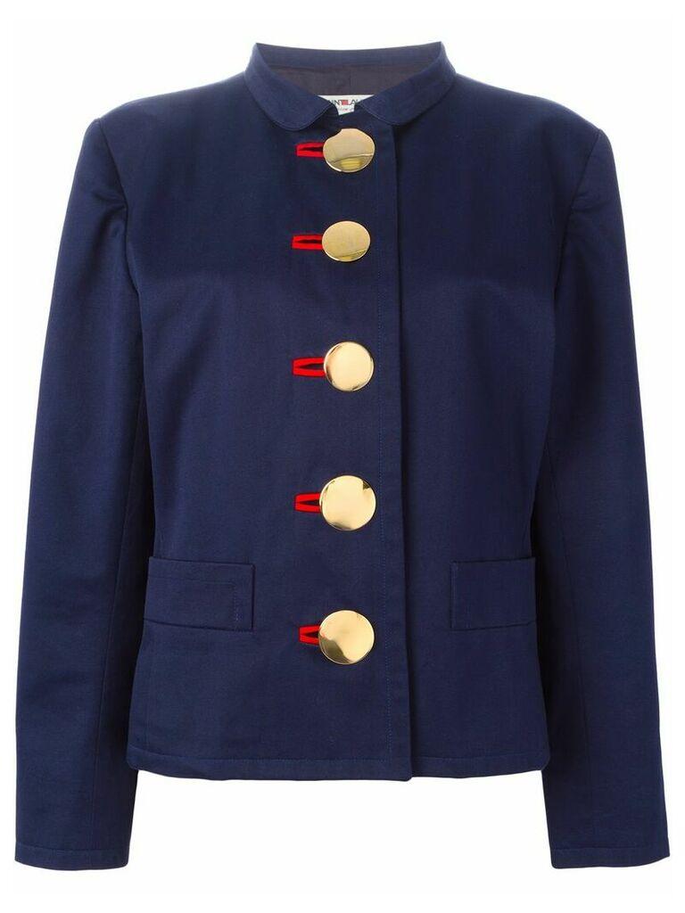 Yves Saint Laurent Vintage oversized button fastening jacket - Blue