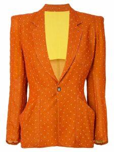 Jean Paul Gaultier Pre-Owned polka dot pattern blazer - Yellow