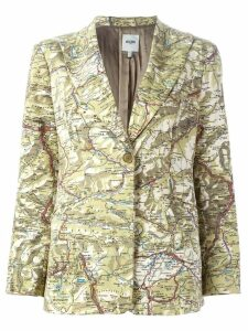 Moschino Pre-Owned map print blazer - Multicolour