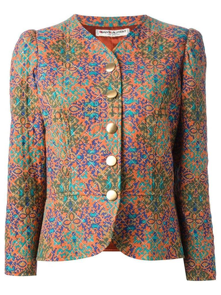 Yves Saint Laurent Vintage printed quilted jacket - Multicolour