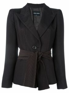 Giorgio Armani Pre-Owned belted blazer - Brown