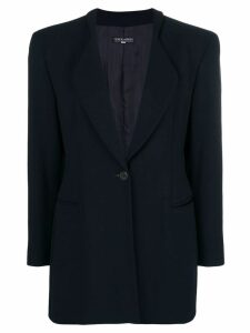 Giorgio Armani Pre-Owned 1990's slim elongated blazer - Blue