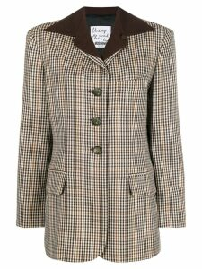 Moschino Pre-Owned 2000's checked jacket - Brown