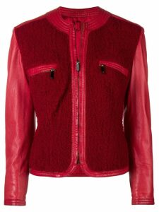 Versace Pre-Owned panelled collarless jacket - Red