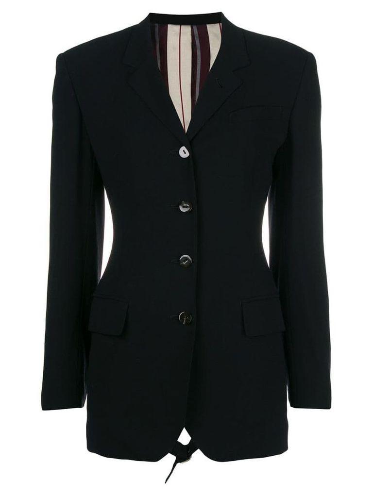 Jean Paul Gaultier Vintage open buckled back blazer - Black
