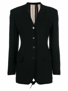 Jean Paul Gaultier Pre-Owned open buckled back blazer - Black