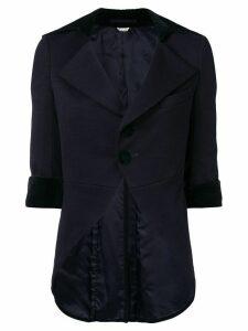Comme Des Garçons Pre-Owned wide lapels tail jacket - Blue