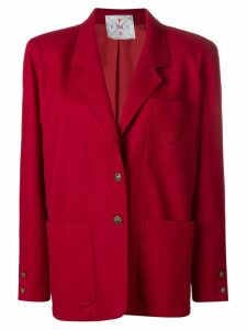 Fendi Pre-Owned straight fit blazer - Red