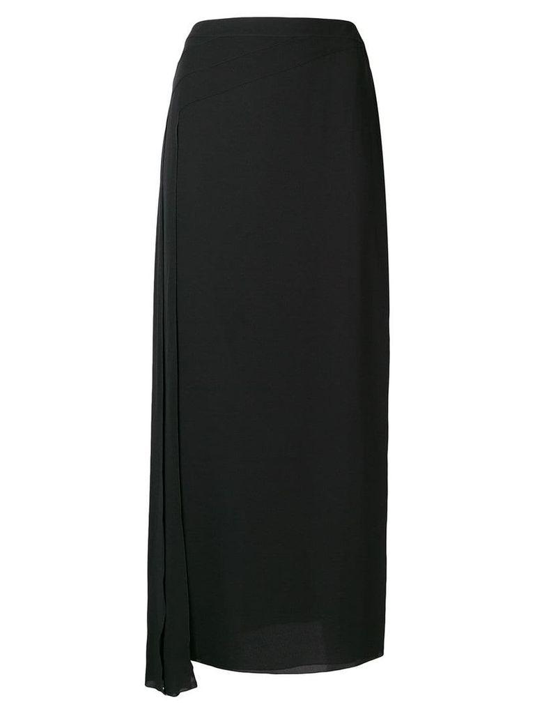 Chanel Vintage draped midi skirt - Black