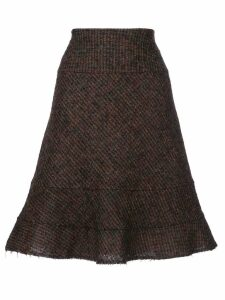 Junya Watanabe Comme des Garçons Pre-Owned raw edge skirt - Brown