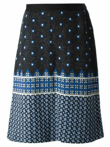 Lanvin Pre-Owned jacquard knitted skirt - Black