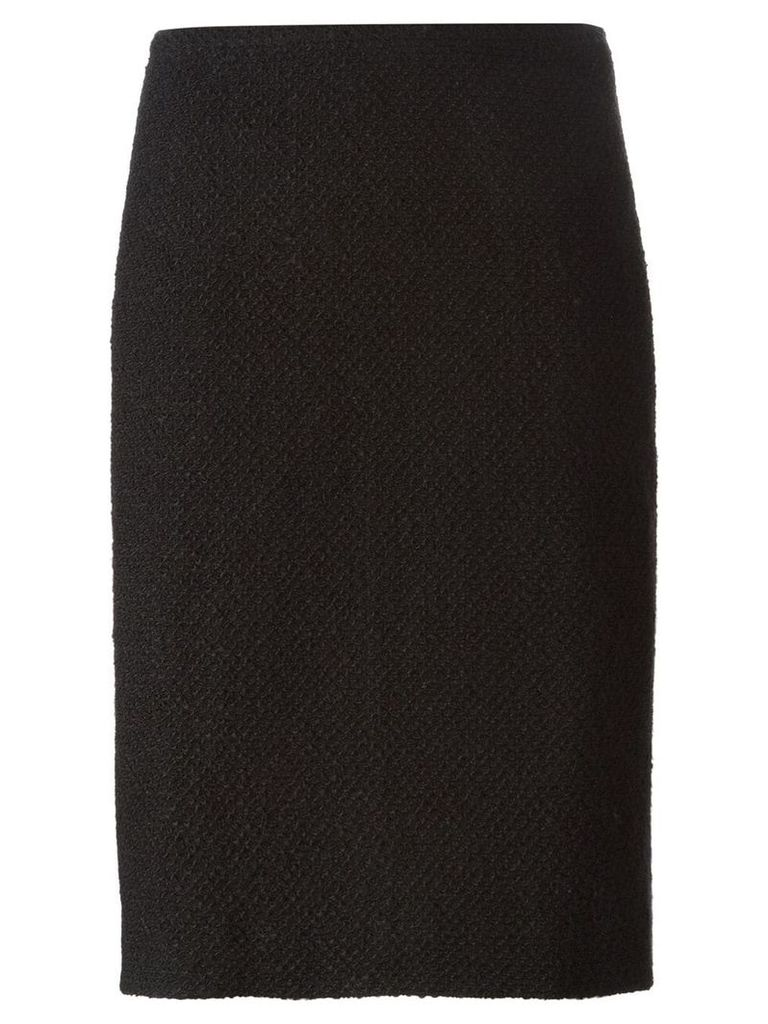 Chanel Vintage bouclé pencil skirt - Black