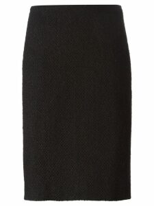 Chanel Pre-Owned bouclé pencil skirt - Black