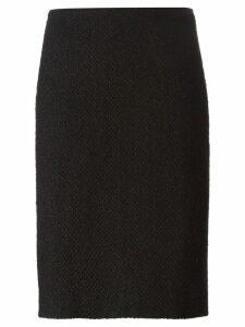 Chanel Pre-Owned bouclé pencil skirt - Black