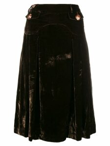 Dolce & Gabbana Pre-Owned velvety flared skirt - Green