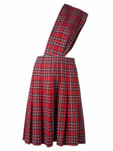 Comme Des Garçons Pre-Owned kilt dungaree skirt - Red