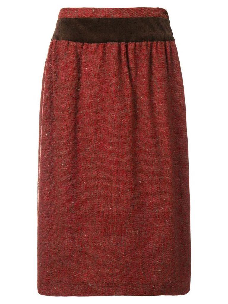 Valentino Vintage 1980's gathered straight skirt