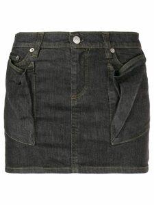Helmut Lang Pre-Owned draped pockets mini skirt - Grey