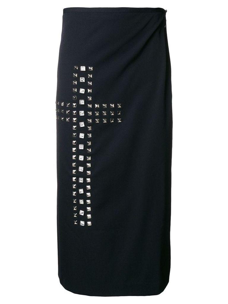 Comme Des Garçons Vintage studded cross wrap skirt - Black