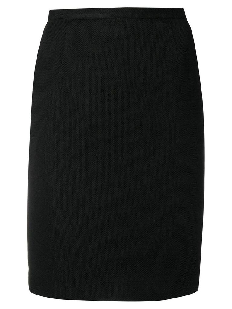 Versace Pre-Owned 2000's fitted short skirt - Black