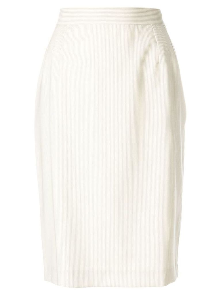 Yves Saint Laurent Vintage high-waisted tulip skirt - Neutrals