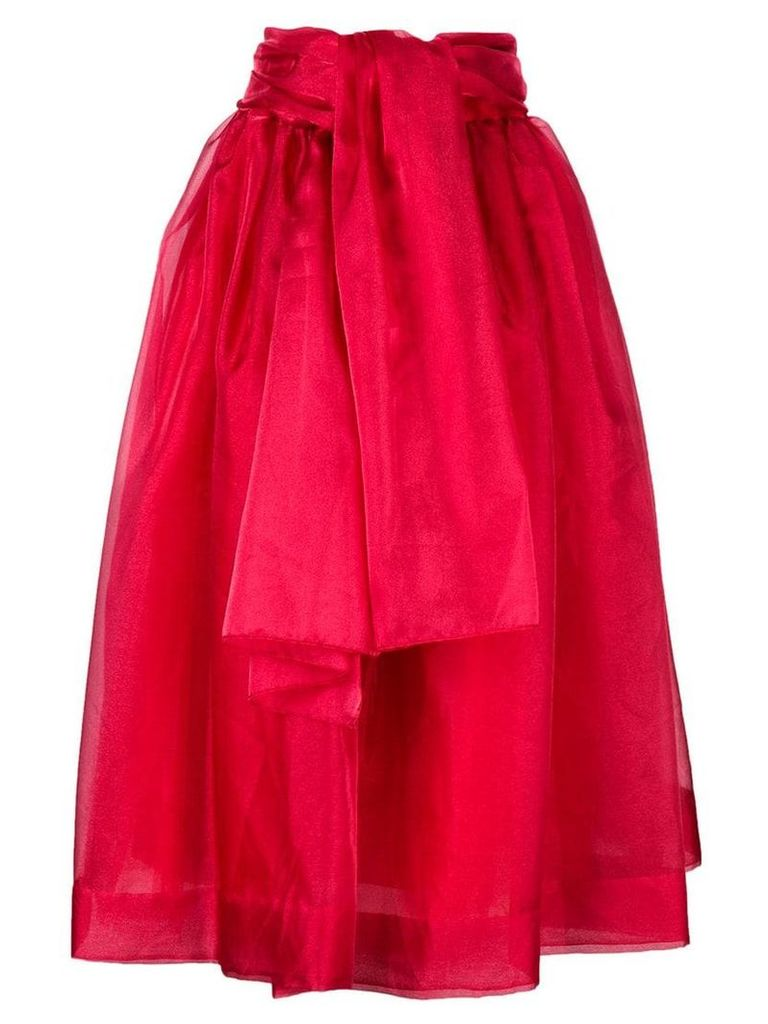 Givenchy Vintage 1968 belted full skirt - Red
