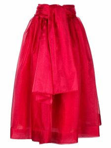 GIVENCHY PRE-OWNED 1968 belted full skirt - Red