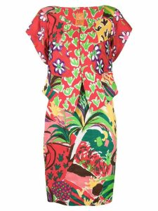 Christian Lacroix Pre-Owned floral skirt & blouse - Red