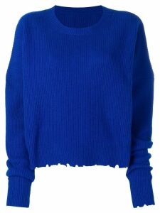 Unravel Project crew neck jumper - Blue