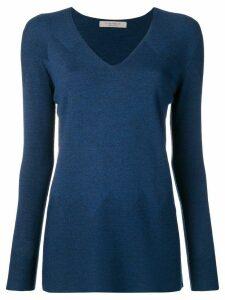 D.Exterior V-neck sweater - Blue